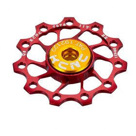 KCNC Jockey Wheel Ultra 12 tanden SS Lager, red